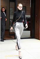 NEW YORK, NY September 13, 2017 Gigi Hadid leaving her Building   in New York September 13,  2017.<br /> CAP/MPI/RW<br /> &copy;RW/MPI/Capital Pictures