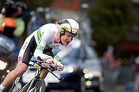 GEELONG, 30 SEPTEMBER - Michael ROGERS (AUS) competing at the 2010 UCI Road World Championships time trial event in Geelong, Victoria, Australia. (Photo Sydney Low / syd-low.com)