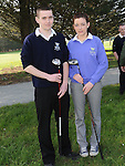 Junior Captain Dylan Crawley and Junior Lady Captain Ciara Molloy pictured at the captain's drive in at ardee golf club. Photo: Colin Bell/pressphotos.ie