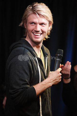 Nick Carter pictured at WISX iHeart Performance Theater in Bala Cynwyd, Pa on February 4, 2012  © Star Shooter / MediaPunchInc
