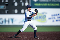 Everett AquaSox shortstop Ryne Ogren (16) during a Northwest League game against the Tri-City Dust Devils at Everett Memorial Stadium on September 3, 2018 in Everett, Washington. The Everett AquaSox defeated the Tri-City Dust Devils by a score of 8-3. (Zachary Lucy/Four Seam Images)