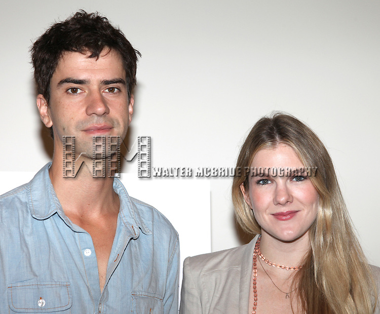 Hamish Linklater and Lily Rabe.attending the New Broadway Production 'Seminar' Meet & Greet at the Foxwoods Rehearsal Studioa in New York City.