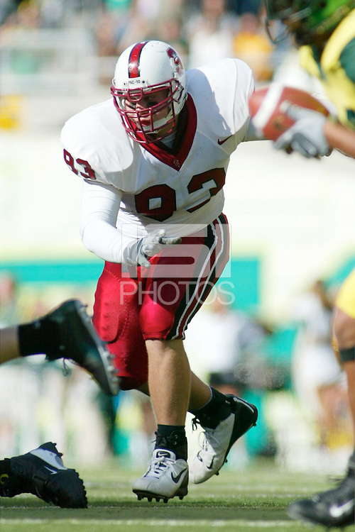 25 October 2003: Action during Stanford's game vs. Oregon at Autzen Stadium in Eugene, OR.
