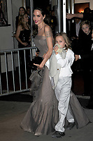 www.acepixs.com<br /> September 14, 2017 New York City<br /> <br /> Angelina Jolie and Vivienne Jolie-Pitt seen on September 14, 2017 in New York City.<br /> <br /> Credit: Kristin Callahan/ACE Pictures<br /> <br /> <br /> Tel: (646) 769 0430<br /> e-mail: info@acepixs.com