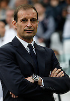 Calcio, Serie A: Juventus vs Sampdoria. Torino, Juventus Stadium, 14 maggio 2016. <br /> Juventus coach Massimiliano Allegri waits for the start of the Italian Serie A football match between Juventus and Sampdoria at Turin's Juventus Stadium, 14 May 2016.<br /> UPDATE IMAGES PRESS/Isabella Bonotto