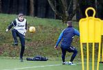 30.11.2018 Rangers training: Steven Gerrard and Borna Barisic