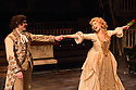 London, UK. 29.11.2013. CANDIDE opens at the Menier Chocolate Factory, directed by Matthew White and choreographed by Adam Cooper. Picture shows: Fra Fee (Candide) and Scarlett Strallen (Cunegonde). Photograph © Jane Hobson.