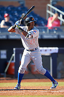 Mesa Solar Sox Eloy Jimenez (27), of the Chicago Cubs organization, during a game against the Peoria Javelinas on October 19, 2016 at Peoria Stadium in Peoria, Arizona.  Peoria defeated Mesa 2-1.  (Mike Janes/Four Seam Images)