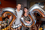 Ed Flahive and Patricia Maunsell Brown enjoying Noyeks 25th anniversary party in Benners Hotel on Saturday.