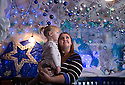 04/12/14<br /> <br /> Hayley Shufflebotham and daughter Maisie York (2) marvel at the decorations.<br /> <br /> The Hanging Gate pub in Chapel en le Frith, in the Derbyshire Peak District claims to have the largest display  of Christmas decorations inside its bar and restaurants. <br /> <br /> Full story here: http://www.fstoppress.com/articles/christmas-pub/<br /> <br /> ***ANY UK EDITORIAL PRINT USE WILL ATTRACT A MINIMUM FEE OF &pound;130. THIS IS STRICTLY A MINIMUM. USUAL SPACE-RATES WILL APPLY TO IMAGES THAT WOULD NORMALLY ATTRACT A HIGHER FEE . PRICE FOR WEB USE WILL BE NEGOTIATED SEPARATELY***<br /> <br /> <br /> All Rights Reserved - F Stop Press. www.fstoppress.com. Tel: +44 (0)1335 300098