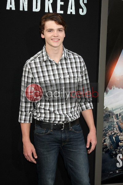 """Joel Courtney<br /> at the """"San Andreas"""" Los Angeles Premiere, TCL Chinese Theater, Hollywood, CA 05-26-15<br /> David Edwards/DailyCeleb.Com 818-249-4998"""