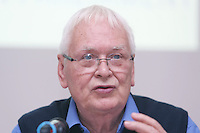 ** NO FEE PIC**.01/10/2012.Tony Bunyan Director of Statewatch.during a briefing by Statewatch & the ICCL entitled Unlocking the EU - A Statewatch Masterclass in the EU Parliament Offices on Dawson Street. Dublin.The Irish Council for Civil Liberties (ICCL) has recently been awarded significant funding by the European Commission to formalise its European Rights Network, JUSTICIA, and is very pleased to announce that the first of a series of EU-wide Masterclasses by its JUSTICIA network partner, Statewatch..Photo: Gareth Chaney Collins