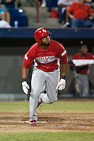 Xavier Scruggs  of the Palm Beach Cardinals during the Florida State League All Star Game on June 12 2010 at Space Coast Stadium in Viera, FL (Photo By Scott Jontes/Four Seam Images)
