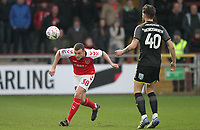 Fleetwood Town's James Wallace  battles with AFC Wimbledon's Anthony Wordsworth <br /> <br /> Photographer Mick Walker/CameraSport<br /> <br /> Emirates FA Cup Third Round - Fleetwood Town v AFC Wimbledon - Saturday 5th January 2019 - Highbury Stadium - Fleetwood<br />  <br /> World Copyright © 2019 CameraSport. All rights reserved. 43 Linden Ave. Countesthorpe. Leicester. England. LE8 5PG - Tel: +44 (0) 116 277 4147 - admin@camerasport.com - www.camerasport.com