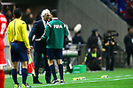 Vahid Halilhodzic (JPN),<br /> MARCH 29, 2016 - Football / Soccer :<br /> Japan's head coach Vahid Halilhodzic protests to fourth official Payam Heidari during the FIFA World Cup Russia 2018 Asian Qualifier Second Round Group E match between Japan 5-0 Syria at Saitama Stadium 2002 in Saitama, Japan. (Photo by Kenzaburo Matsuoka/AFLO)