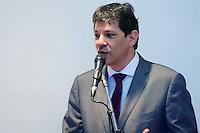 SÃO PAULO,SP - 25.07.2016 - HADDAD-SP - O Prefeito Fernando Haddad, durante sanção do Projeto de Lei do Programa Ruas de Memórias, realizado no auditório da Prefeitura de São Paulo, zona central de São Paulo, na manhã desta segunda-feira, 25. (Foto: Eduardo Carmim/Brazil Photo Press)