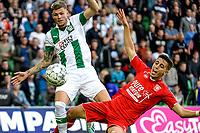 GRONINGEN - Voetbal, FC Groningen - FC Twente, Eredivisie, seizoen 2019-2020, 10-08-2019, FC Groningen speler Django Warmerdam in duel