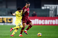 Mehdi Leris of AC Chievo Verona , Aleksandar Kolarov of AS Roma <br /> Verona 8-2-2019 Stadio Bentegodi Football Serie A 2018/2019 Chievo Verona - AS Roma <br /> Foto Image Sport / Insidefoto
