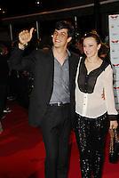 ATEN&Ccedil;&Atilde;O EDITOR:  FOTO EMBARGADA PARA VEICULOS INTERNACIONAIS - RIO DE JANEIRO, RJ 27 DE SETEMBRO 2012 - O ator Matheus Solano (E) durante a bertura do Festival Rio Filmes 2012, no Cine Odeon situado na Cinel&acirc;ndia centro da cidade do Rio de Janeiro na noite de ontem quinta feira (27)<br /> RONALDO BRANDAO / BRAZIL PHOTO PRESS