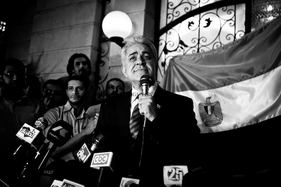 ©VIRGINIE NGUYEN HOANG/.Egypt,Cairo.2012..Hamdeen Sabbahi the socialist nasserist who gained on popularity the last week arrived at the 3rd place with 4.82 million votes.