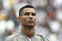 Calcio, Serie A: Juventus - Sassuolo, Turin, Allianz Stadium, September 16, 2018.<br /> Juventus' Cristiano Ronaldo looks on prior to the Italian Serie A football match between Juventus and  Sassuolo at Torino's Allianz stadium, September 16, 2018.<br /> UPDATE IMAGES PRESS/Isabella Bonotto