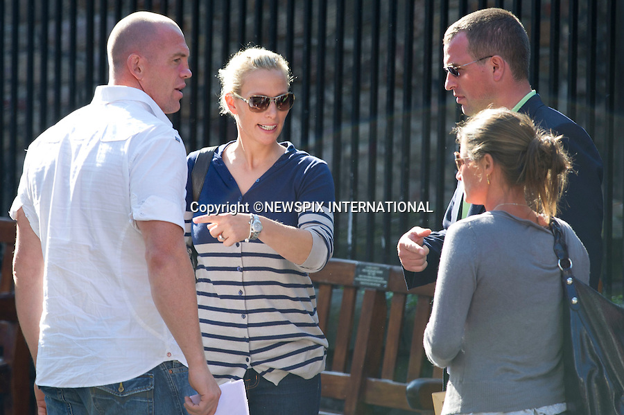 "ROYAL WEDDING..Wedding rehearsals of Zara Phillips and Mike Tindall..The couple attend a wedding rehearsal at Canongate Church the afternoon before the big day, accompanied by members of their families. Canongate Church, Edinburgh, Scotland_29/07/2011..Mandatory Photo Credit: ©Dias/Newspix International..**ALL FEES PAYABLE TO: ""NEWSPIX INTERNATIONAL""**..PHOTO CREDIT MANDATORY!!: NEWSPIX INTERNATIONAL(Failure to credit will incur a surcharge of 100% of reproduction fees)..IMMEDIATE CONFIRMATION OF USAGE REQUIRED:.Newspix International, 31 Chinnery Hill, Bishop's Stortford, ENGLAND CM23 3PS.Tel:+441279 324672  ; Fax: +441279656877.Mobile:  0777568 1153.e-mail: info@newspixinternational.co.uk"