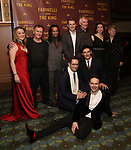 Front: Sam Crane, Iestyn Davies, Mark Rylance Back: Margot White, Colin Hurley, Huss Garbiya, Lucas Hall, Edward Peel, Melody Grove and Claire Van Kampen attend the Broadway Opening Night performance After Party for 'Farinelli and the King' at The Belasco Theatre on December 17, 2017 in New York City.