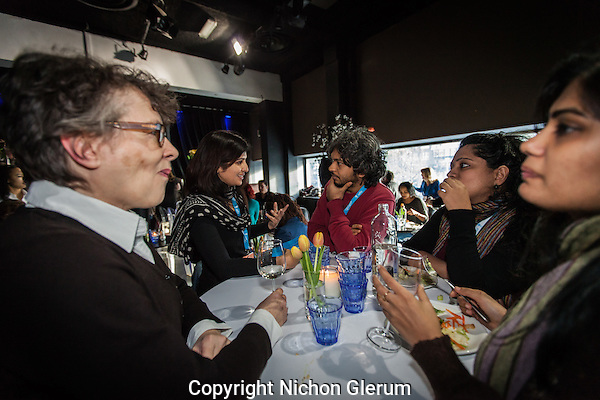 Amsterdam, 25-11-2013, International Documentary Film Festival 2013. IDFA Bertha Fund lunch in Escape. Photo: Nichon Glerum