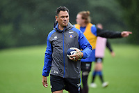 Bath Rugby Head Coach Tabai Matson looks on. Bath Rugby pre-season training session on August 9, 2017 at Farleigh House in Bath, England. Photo by: Patrick Khachfe / Onside Images