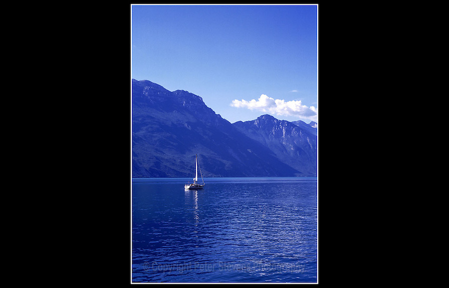 Lake Garda Italy - Riva del Garda - June 1997<br /> <br /> Located in Northern Italy,  about half-way between Brescia and Verona, and between Venice and Milan. Lake Garda is the largest lake in the country.