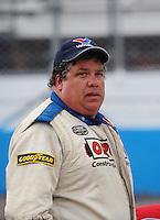 Apr 16, 2009; Avondale, AZ, USA; NASCAR Camping World Series West driver Wes Banks prior to the Jimmie Johnson Foundation 150 at Phoenix International Raceway. Mandatory Credit: Mark J. Rebilas-