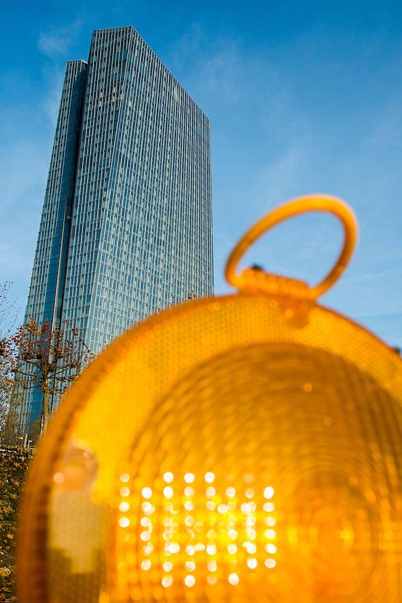 Duitsland, Frankfurt am Main, 23 nov 2014<br /> Het gebouw van de Europese Centrale Bank ECB<br /> Headquarters of the European Central Bank ECB<br /> <br /> Foto: (c) Michiel Wijnbergh