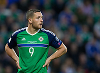 Northern Ireland's Conor Washington   <br /> <br /> <br /> Photographer Craig Mercer/CameraSport<br /> <br /> FIFA World Cup Qualifying - European Region - Group C - Northern Ireland v Czech Republic - Monday 4th September 2017 - Windsor Park - Belfast<br /> <br /> World Copyright &copy; 2017 CameraSport. All rights reserved. 43 Linden Ave. Countesthorpe. Leicester. England. LE8 5PG - Tel: +44 (0) 116 277 4147 - admin@camerasport.com - www.camerasport.com