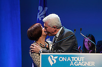 File Photo  -  Bloc Quebecois leader Gilles Duceppe and his supporters accept defeat to Justin Trudeau's Liberal party on Canada's election night, October 19, 2015.<br /> <br /> <br /> PHOTO : Agence Quebec Presse