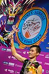 Angus Ng Ka Long of Hong Kong celebrates altering defeating Sameer Verma of India during their Men's Singles Final of YONEX-SUNRISE Hong Kong Open Badminton Championships 2016 at the Hong Kong Coliseum on 27 November 2016 in Hong Kong, China. Photo by Marcio Rodrigo Machado / Power Sport Images