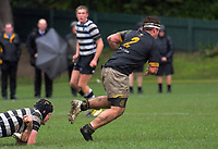 Action from the Quadrangular Tournament Rugby 1st XV match between Wellington College and Christ's College at Wellington College in Wellington, New Zealand on Wednesday, 3 July 2019. Photo: Dave Lintott / lintottphoto.co.nz