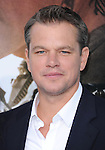 Matt Damon at The TriStar Pictures' World Premiere of Elysium held at The Regency Village Theatre in Westwood, California on August 07,2013                                                                   Copyright 2013 Hollywood Press Agency