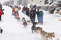 Jake Berkowitz Saturday, March 3, 2012  Ceremonial Start of Iditarod 2012 in Anchorage, Alaska.