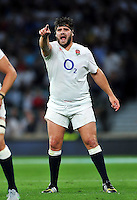 Rob Webber of England in action. QBE International match between England and France on August 15, 2015 at Twickenham Stadium in London, England. Photo by: Patrick Khachfe / Onside Images