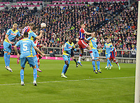 27.02.2015. Allianz Arena, Munich, Germany. Bundesliga football league. Bayern Munich versus FC Cologne.  Bastian Schweinsteiger (Munich) scores for 1:0