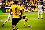 11.05.2019, Signal Iduna Park, Dortmund, GER, 1.FBL, Borussia Dortmund vs Fortuna Düsseldorf, DFL REGULATIONS PROHIBIT ANY USE OF PHOTOGRAPHS AS IMAGE SEQUENCES AND/OR QUASI-VIDEO<br /> <br /> im Bild | picture shows:<br /> Christian Pulisic (Borussia Dortmund #22) setzt sich durch, <br /> <br /> Foto © nordphoto / Rauch
