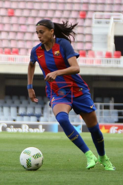 Spanish Women's Football League Iberdrola 2016/17 - Game: 21.<br /> FC Barcelona vs RCD Espanyol: 5-0.<br /> Andressa Alves.