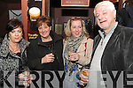 TOASTING: Rene and Trish Rietvijk with Amanda Mallinson and Bernie O'Sullivan toasting in the New Year in Crowley's Bar, Kenmare, on Monday night.