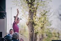Anna van der Breggen (NED/Boels-Dolmans) wins on top of the Mur for a 4th time<br /> <br /> La Fl&egrave;che Wallonne F&egrave;minine 2018 (1.WWT)<br /> 1 Day Race: Huy - Mur de Huy (119km)
