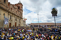 ZIPAQUIRA - COLOMBIA, 07-08-2019: Egan Bernal, ciclista colombiano, durante el homenaje en su ciudad Zipaquirá por el triunfo en el Tour de Francia 2019. / Egan Bernal, Colombian cyclist, during a tribute in his town Zipaquira for his victory in the Tour de France 2019. Photo: VizzorImage / Diego Cuevas / Cont