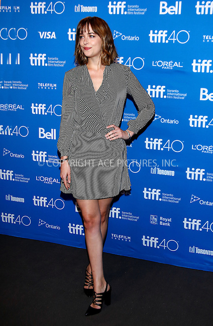 WWW.ACEPIXS.COM<br /> <br /> September 14 2015, Toronto<br /> <br /> Actor Dakota Johnson attending the press conference for Black Mass during the 40th Toronto International Film Festival, TIFF, at the Bell Lightbox on September 15 2015C in Toronto, Canada<br /> <br /> By Line: Famous/ACE Pictures<br /> <br /> <br /> ACE Pictures, Inc.<br /> tel: 646 769 0430<br /> Email: info@acepixs.com<br /> www.acepixs.com