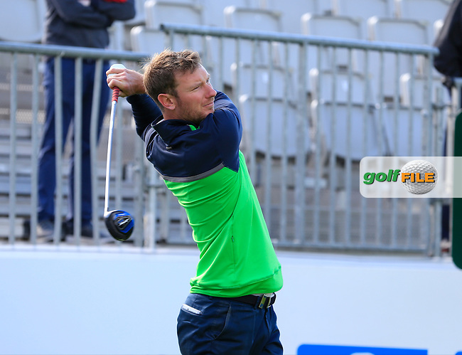 Chris Wood (ENG) team in action during Wednesday's Pro-Am of the 2016 Dubai Duty Free Irish Open hosted by Rory Foundation held at the K Club, Straffan, Co.Kildare, Ireland. 18th May 2016.<br /> Picture: Eoin Clarke | Golffile<br /> <br /> <br /> All photos usage must carry mandatory copyright credit (&copy; Golffile | Eoin Clarke)