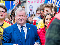 London, UK - March 23 2019: the Ian Blackford, the Scottish National Party Member of Parliament for Ross during the demonstration the people Brexit march for people's vote protest. Photo Adamo Di Loreto/BuenaVista*photo