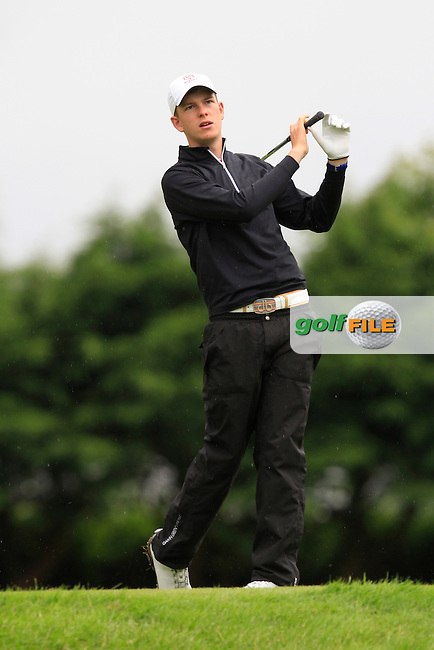 Gaelan Trew (RSA) on the 6th tee during Round 3 of the Irish Boys Amateur Open Championship at Thurles Golf Club on Thursday 26th June 2014.<br /> Picture:  Thos Caffrey / www.golffile.ie
