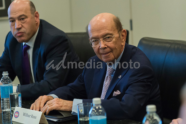 Wilbur Ross is seen in attendance at a meeting of technology chiefs in the Trump Organization conference room at Trump Tower in New York, NY, USA on December 14, 2016. Photo Credit: Albin Lohr-Jones/CNP/AdMedia